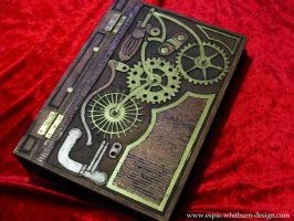 Steampunk hand carved wood book by CelticGold