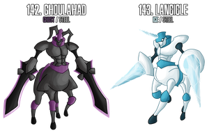 fakemon: 142 - 143 - Legendary Knights duo by MTC-Studio