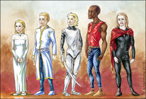 DT Character Designs by ashkey