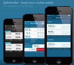Sabminder iOS app's evolution in design by sax155
