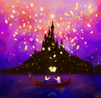 Tangled: New Dream week: day 1 - Favorite Scene by Morisaurus