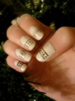 Christmas Scandinavian Knitting Nails by Iszy-chan