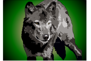 Wolf Painting by bellafreck