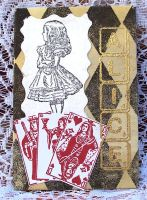 Alice in Wonderland ATC by ValerianaSolaris