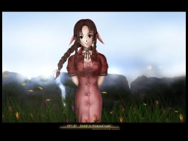 FFVII: Aerith In Promised Land by lyzeravern