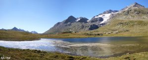 Panorama Lej Nair - Bernina Pass by HghlnDR