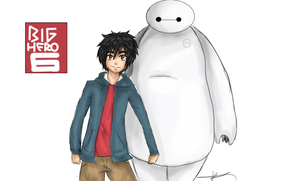 Hiro and Baymax by triforceofsteampunk