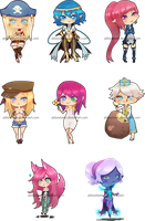Chibi Commissions by ymstr
