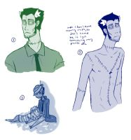 Zombie doodles by elefluff