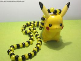 Pikachu Pokemon Kandi Necklace by colbyjackchz