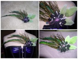 Peacock Fascinator by DietCokeFiend