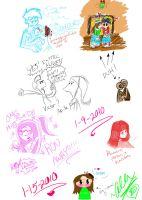 Magical sketchdump of awesome by WickedGhoul