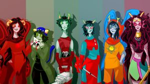 Homestuck Girls by KatariiinaP