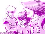 C009 - Purple Trio by Sardiini