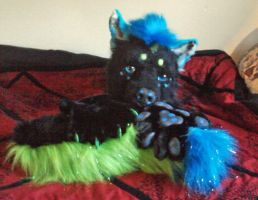 Raver fursuit partail by WolfofArts-Studios