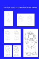 How to draw Space Marine by razorsteel