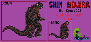 Shin Gojira Sprite - Preliminary Speculation by SpaceG92
