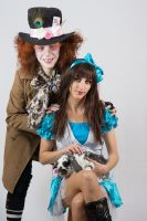 Alice and the Mad Hatter by Fran-photo