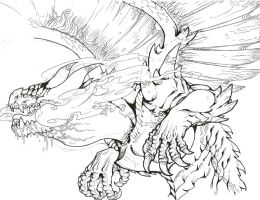 Charizard X - colorless by TheLaughingChimera