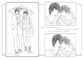 2Min under umbrella by yuki-k