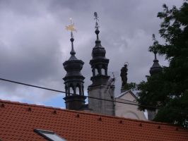 church tower by serialkillerstock