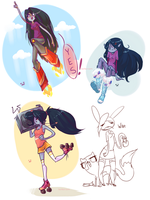 AT- Marceline doodles by Laur-