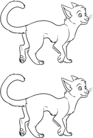 Cat lineart (+MS Paint friendly) by Daisyvayle