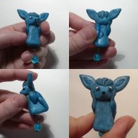 Glaceon Bead Charm FAIL by ChibiSilverWings