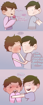 Daniel You're Blushing! by moonlitboy