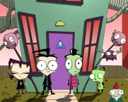 Invader Zim Cast Color by ANMNP129