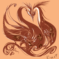 love birds tattoo - commission by kika1983