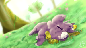 Nature Snoozing by EnamoredGhost