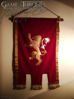 [Game of Thrones] House Lannister Banner - photo 2 by Jozie