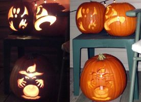 Halloween Carvings by DarkGeminiLily