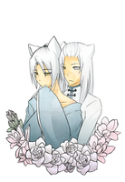 Kyou and Ryou by Xeohelios