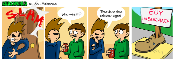 EWCOMIC No. 186 - Salesman by eddsworld