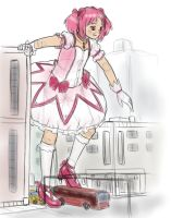 Madoka in traffic by AlloyRabbit