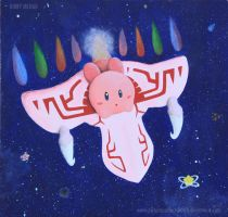 Kirby on the Dragoon by pictureperfectsketch