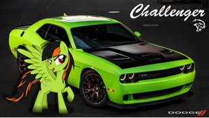 Cars as Ponies: Challenger Pony by Farminilla
