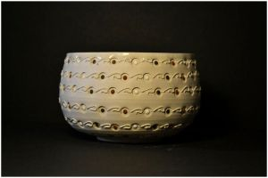 Chawan Noir Blanc Rouge / Chawan Black White Red by ClaireBriant