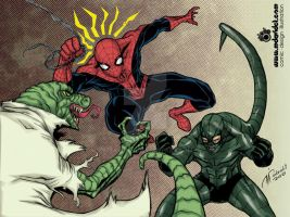 Spidey vs Lizard Scorpion by mdavidct
