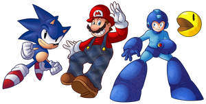 Classic Game Characters by Ian-the-Hedgehog