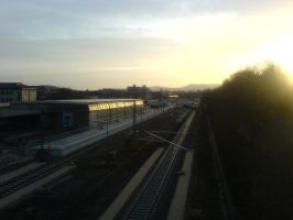 The train station in the sun. by wiirus