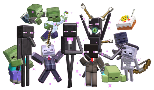 MMD Minecraft Smooth Steve preview Monster Party by 495557939