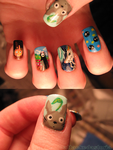 ghibli tribute nails by xtheungodx
