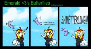 Emerald luvs Butterflies by Emerarudo-chan