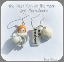 Neil Armstrong Earrings by Bojo-Bijoux