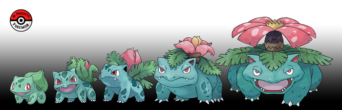 001 - 003 Bulbasaur Line by InProgressPokemon