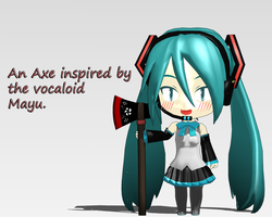 Mayu inspired axe v1.0 -DL- by SatanicFlower