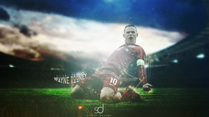 Wayne Rooney Wallpaper Work by DesingSilver
